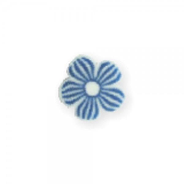 fimo flower, darling blue