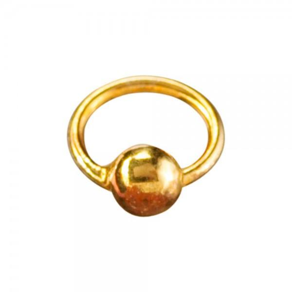 Piercingring mini gold/gold