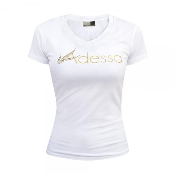 Adessa Damen T-Shirt weiß, Kurzarm, Gr. L