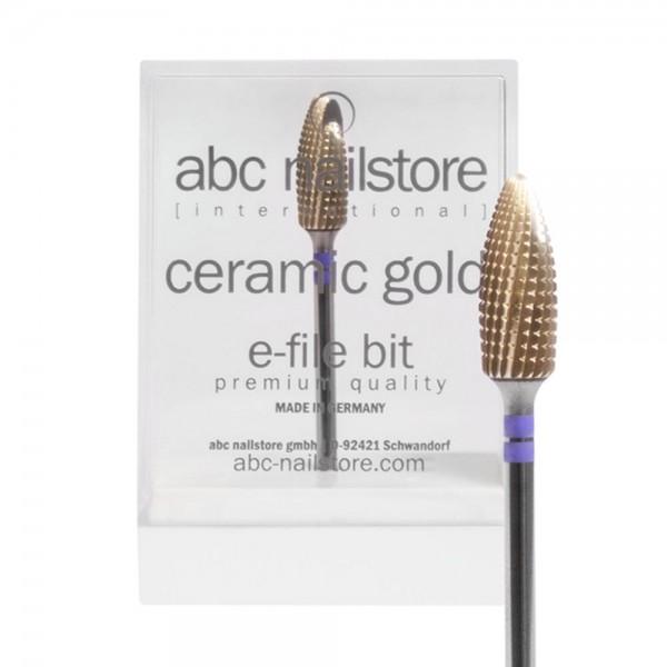 abc nailstore Ceramic Gold, Elektrofeilen-Aufsatz zum Abtragen Kürzen von Gel und Acryl