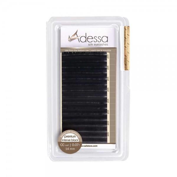 CC curl, 0,07/14 mm Adessa Silk Lashes premium intense black
