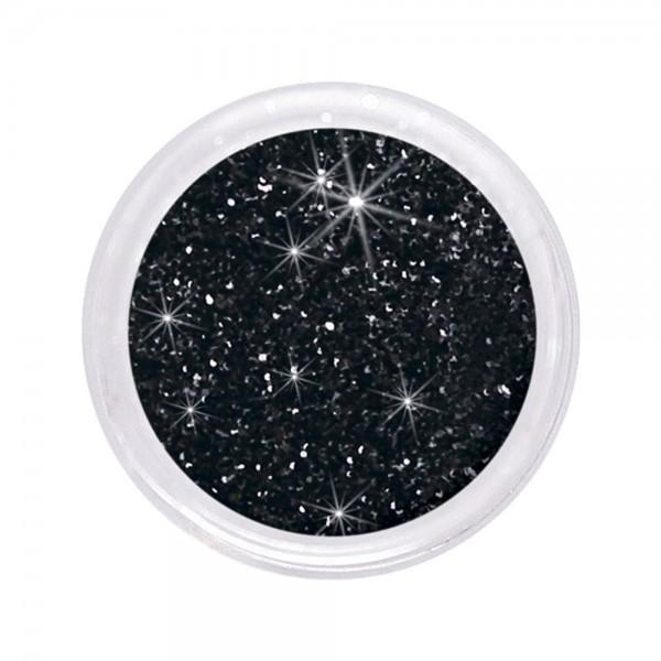 dazzling glitter 0,6 mm, black #111, 6 g