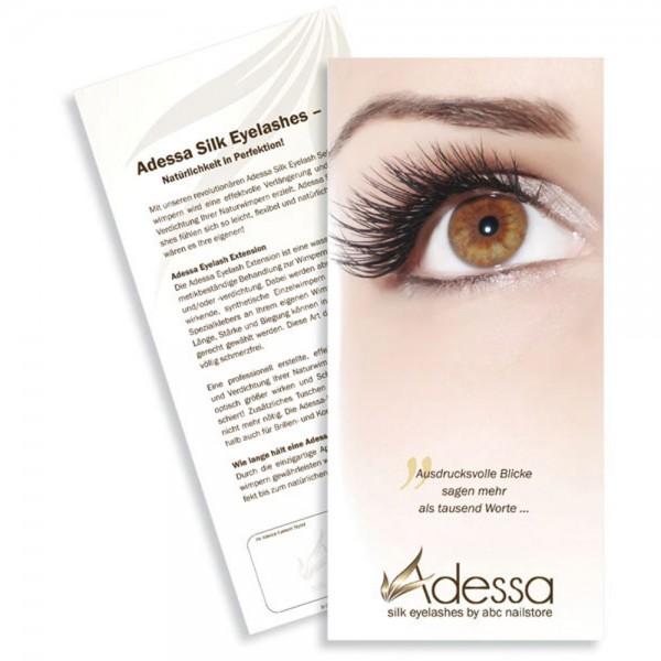 Adessa silk eyelashes Kundenwerbeflyer DIN lang, 500 Stück