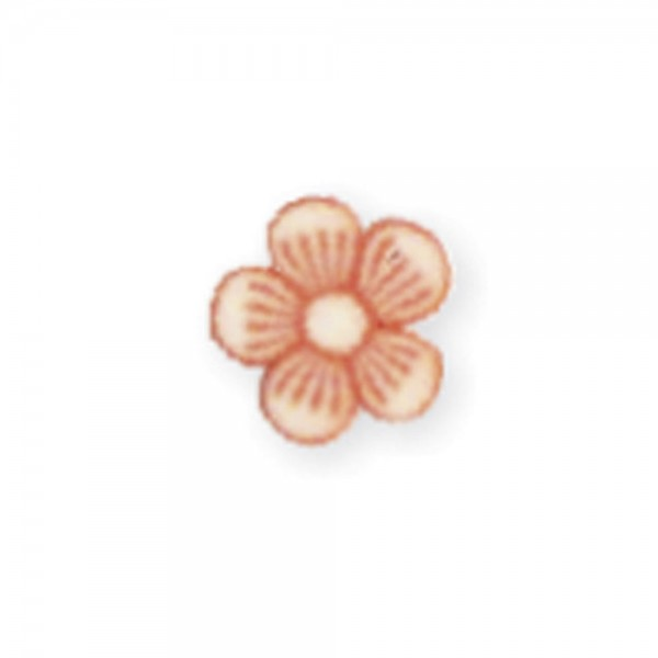 fimo flower, darling orange