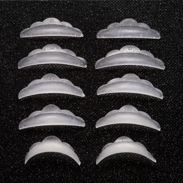 Adessa Lash Lifting Silikonpads, gemischte Größen S, M, M1, M2, L, 5 Paar