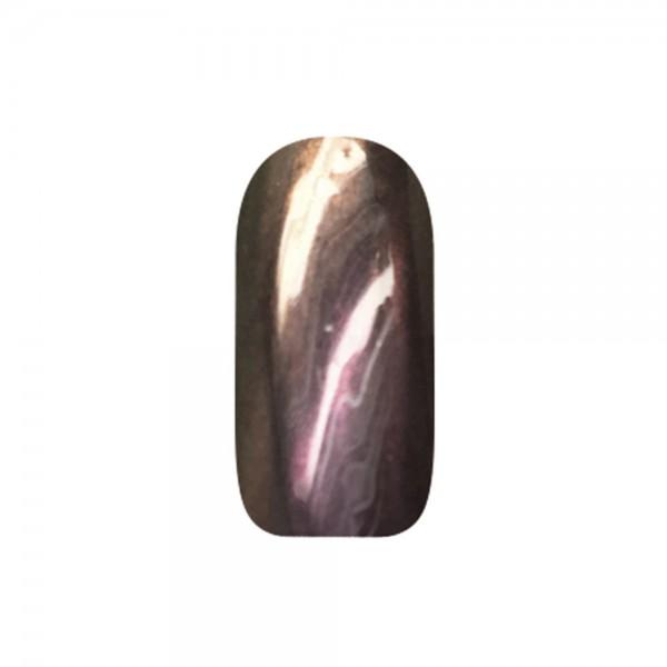 abc nailstore chrome powder flip flop: red-gold #201, 2 g