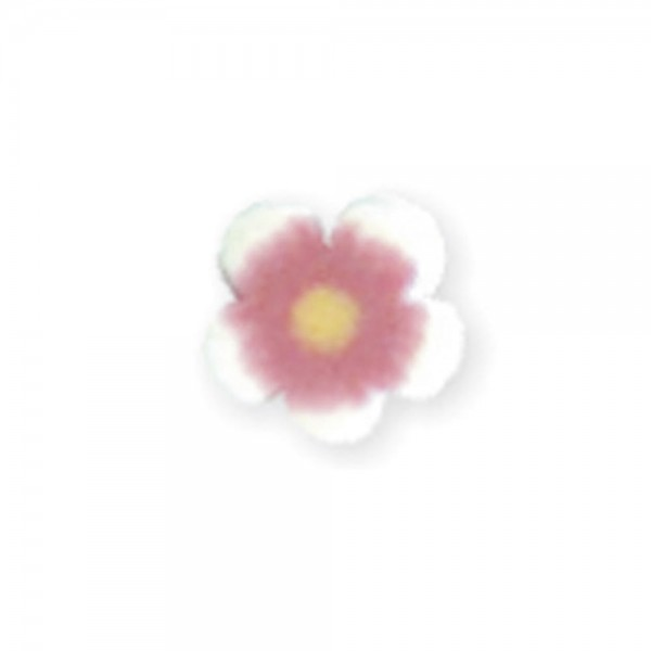 fimo flower, red peony